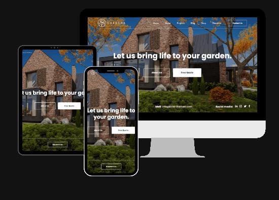 lawn care website design mockup