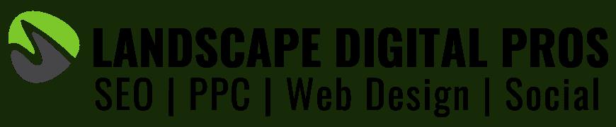 lawn care website landscape marketing logo
